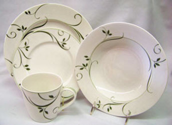 Noritake Arbour Green 4385 4 Piece Place Setting Sale from Clark Flower and Gift Shop in Clark, SD