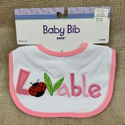 Baby Bib Lovable from Clark Flower and Gift Shop in Clark, SD