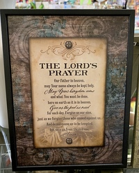 The Lord's Prayer Plaque from Clark Flower and Gift Shop in Clark, SD