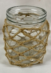 Jar with Decorative Rope from Clark Flower and Gift Shop in Clark, SD