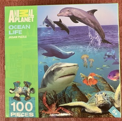 Ocean Life Jigsaw Puzzle 100 pc from Clark Flower and Gift Shop in Clark, SD