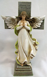 Angel with Cross from Clark Flower and Gift Shop in Clark, SD