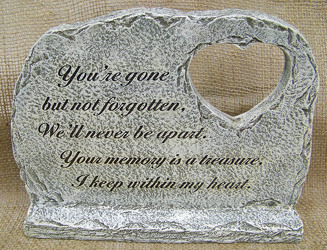 Memorial Stone with Heart from Clark Flower and Gift Shop in Clark, SD