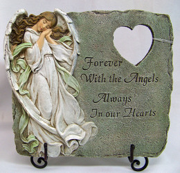 Memorial Plaque with Angel from Clark Flower and Gift Shop in Clark, SD