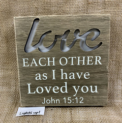"Wall Sign ""Love Each Other..."" from Clark Flower and Gift Shop in Clark, SD"