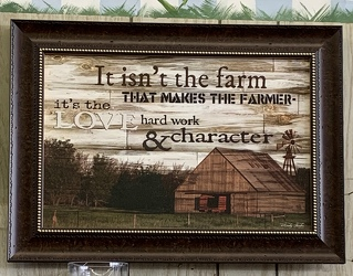 It Isn't the Farm... Framed Print from Clark Flower and Gift Shop in Clark, SD