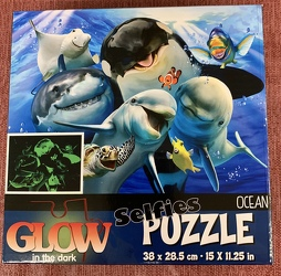 Glow in the Dark Selfies Puzzle Ocean 100 pc from Clark Flower and Gift Shop in Clark, SD