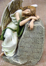 Resting Angel Memorial Stone from Clark Flower and Gift Shop in Clark, SD