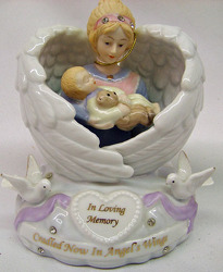 In Loving Memory Angel Holding Baby from Clark Flower and Gift Shop in Clark, SD