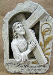 Jesus Holding Cross from Clark Flower and Gift Shop in Clark, SD