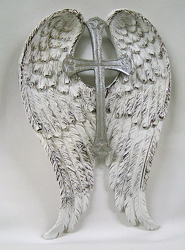 Angel Wings with Cross from Clark Flower and Gift Shop in Clark, SD