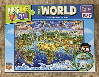 The World Puzzle 100 pc from Clark Flower and Gift Shop in Clark, SD