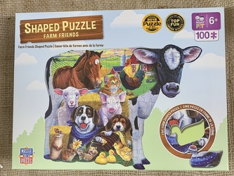 Farm Friends Shaped Puzzle 100 pc from Clark Flower and Gift Shop in Clark, SD