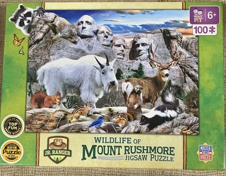 Wildlife of Mount Rushmore Jigsaw Puzzle 100 pc from Clark Flower and Gift Shop in Clark, SD