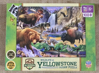 Wildlife of Yellowstone Jigsaw Puzzle 100 pc from Clark Flower and Gift Shop in Clark, SD
