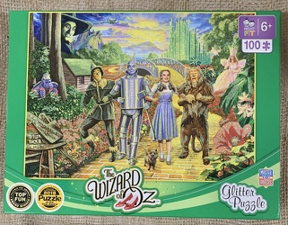 The Wizard Of Oz Glitter Puzzle 100 pc from Clark Flower and Gift Shop in Clark, SD