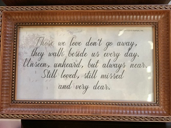 """Those we love.."" Music Box from Clark Flower and Gift Shop in Clark, SD"