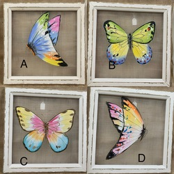 Butterfly Screen Wall Hanging from Clark Flower and Gift Shop in Clark, SD