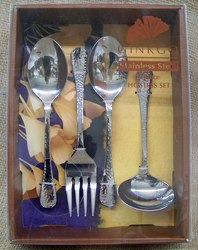 Lafayette Stainless 4 Piece Hostess Set from Clark Flower and Gift Shop in Clark, SD