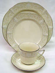 Noritake Imperial Lace 7375 Cup Saucer Salad Dinner Sale from Clark Flower and Gift Shop in Clark, SD