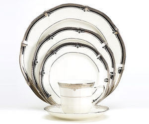 Noritake Stratford Platinum 7387 5 Piece Place Setting Sale from Clark Flower and Gift Shop in Clark, SD