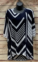 Navy & White Chevron Top from Clark Flower and Gift Shop in Clark, SD