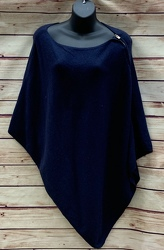 Zip Shoulder Poncho Navy from Clark Flower and Gift Shop in Clark, SD