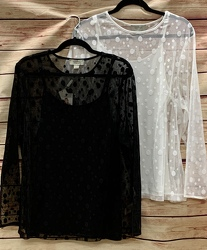 Polyester Lace Knit Curvy Top from Clark Flower and Gift Shop in Clark, SD