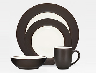 Colorwave Chocolate 8046 Rim Stoneware by Noritake from Clark Flower and Gift Shop in Clark, SD