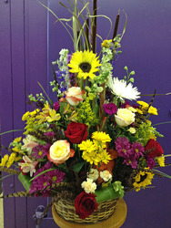 Wicker Basket Mix from Clark Flower and Gift Shop in Clark, SD