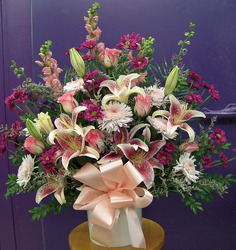 Purple, Pink, & White Bouquet from Clark Flower and Gift Shop in Clark, SD