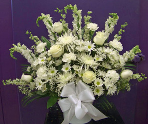 White Mix of Blooms from Clark Flower and Gift Shop in Clark, SD