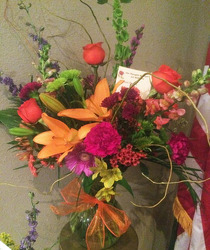 Bright Mix of Blooms from Clark Flower and Gift Shop in Clark, SD