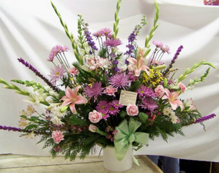 Purples, Pinks, & White Traditional Bouquet from Clark Flower and Gift Shop in Clark, SD