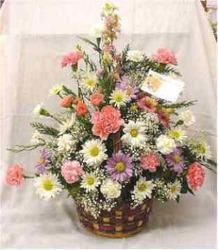 Wicker Basket Bouquet from Clark Flower and Gift Shop in Clark, SD