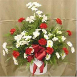 Traditional Red & White Bouquet from Clark Flower and Gift Shop in Clark, SD