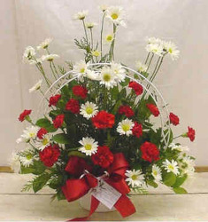 Red & White Bouquet from Clark Flower and Gift Shop in Clark, SD