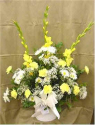 Yellow & White Bouquet from Clark Flower and Gift Shop in Clark, SD