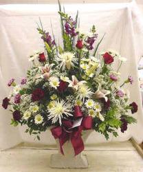 Traditional Sympathy Arrangement from Clark Flower and Gift Shop in Clark, SD