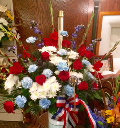 Patriotic Blooms from Clark Flower and Gift Shop in Clark, SD
