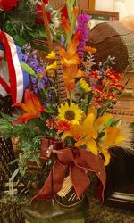 Cowboy Boot Bouquet from Clark Flower and Gift Shop in Clark, SD