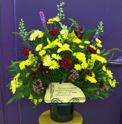Traditional Bouquet with Plaque from Clark Flower and Gift Shop in Clark, SD