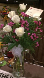 White Roses & Waxflower from Clark Flower and Gift Shop in Clark, SD