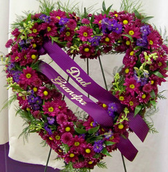 Purple Open Heart from Clark Flower and Gift Shop in Clark, SD