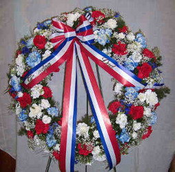 Patriotic Wreath from Clark Flower and Gift Shop in Clark, SD