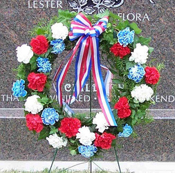 Red, White, & Blue Wreath from Clark Flower and Gift Shop in Clark, SD