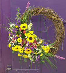 Grapevine Wreath from Clark Flower and Gift Shop in Clark, SD