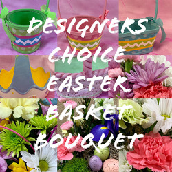 Designers Choice Easter Basket Bouquet from Clark Flower and Gift Shop in Clark, SD