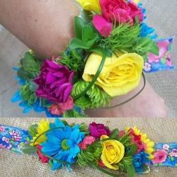 Bright Wrist Corsage from Clark Flower and Gift Shop in Clark, SD