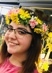 Flower Crown of Mixed Spring Blooms from Clark Flower and Gift Shop in Clark, SD